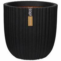"""Capi Egg Planter """"Urban Tube"""" 43x41 cm Black KBLT933"""
