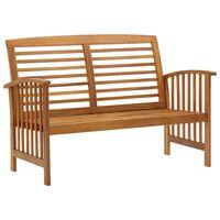 vidaXL Banco de jardim 119 cm madeira de acácia maciça