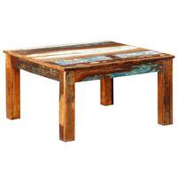 vidaXL Mesa de centro quadrada em madeira reciclada