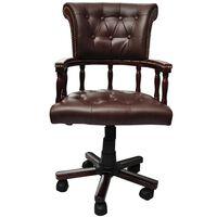 vidaXL Cadeira de escritório giratória castanho