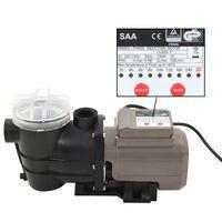 vidaXL Bomba de piscina com temporizador preto 0,25 HP 8000 L/h