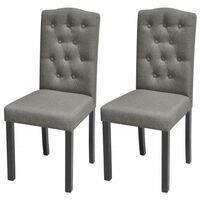 vidaXL Cadeiras de jantar 2 pcs tecido cinzento-claro