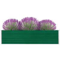 vidaXL Canteiro jardim elevado 320x40x77 cm aço galvanizado verde