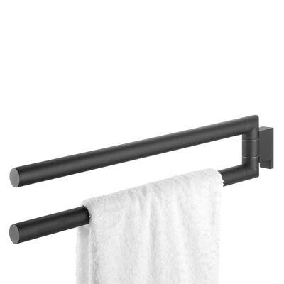 Tiger Suporte para toalhas de rosto com 2 braços Bold preto mate
