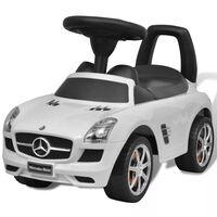 Mini-Carro Infantil de Impulso com Pés, Mercedes Benz, Branco