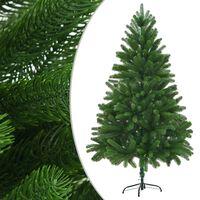 vidaXL Árvore de Natal artificial agulhas realistas 210 cm verde