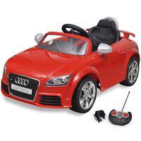 Carro Audi TT RS para crianças com controlo remoto - vermelho
