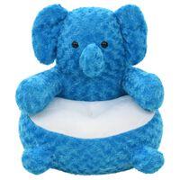 vidaXL Elefante de peluche azul