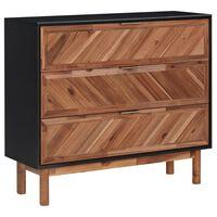 vidaXL Aparador 90x33,5x80 cm madeira de acácia maciça e MDF