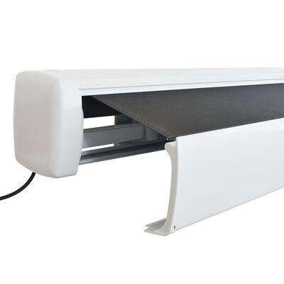 vidaXL Toldo motorizado com caixa 350 cm antracite