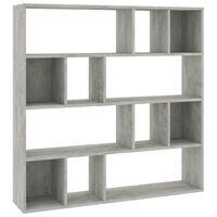 vidaXL Divisória/estante 110x24x110 cm contraplacado cinzento cimento