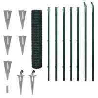 vidaXL Cerca 10x1,7 m aço verde