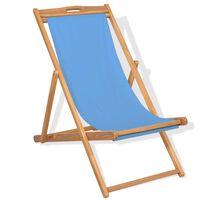 vidaXL Cadeira de pátio em teca 56x105x96 cm azul