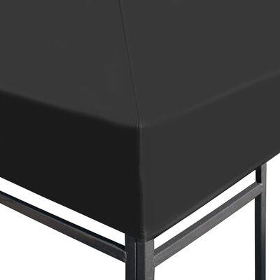 vidaXL Cobertura de gazebo 310 g/m² 4x3 m cinzento