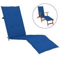 vidaXL Almofadão para cadeira de terraço (75+105)x50x4 cm azul real
