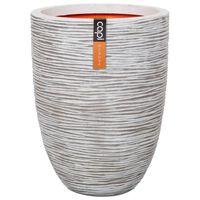 Capi Vaso elegante e baixo Nature Rib 36x47 cm marfim KOFI782
