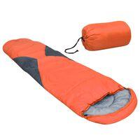 vidaXL Saco-cama 5 ℃ 1400 g laranja