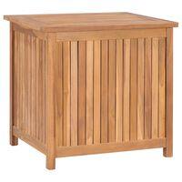 vidaXL Caixa arrumação para jardim 60x50x58 cm madeira teca maciça