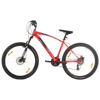 vidaXL Mountain Bike 21 Speed 29 inch Wheel 48 cm Frame Red (92336+92342)