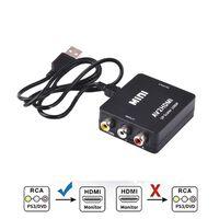 Adaptador Cinch para conversor HDMI - Preto