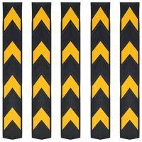 vidaXL Faixas de sinalização refletoras 5 pcs borracha 80 cm