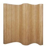 vidaXL Biombo/divisória de sala 250x165 cm bambu natural
