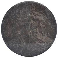 vidaXL Tampo de mesa Ø50x2,5 cm mármore preto