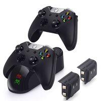 Carregador duplo para Xbox One S / Elite / X com 2 baterias
