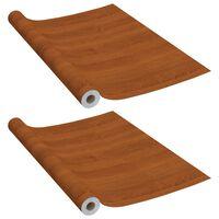 vidaXL Autocolante para móveis 2 pcs 500x90 cm PVC cor carvalho claro