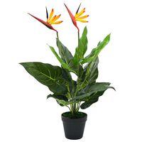 vidaXL Planta estrelícia/ave do paraíso artificial 66 cm
