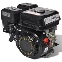 vidaXL Motor a gasolina 6,5 CV 4,8 kW preto
