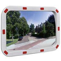 Convex Espelho de trânsito retangular 40 x 60 cm com refletores