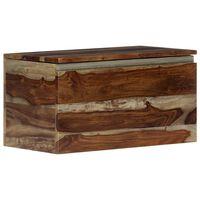 vidaXL Arca de arrumação 30x30x57 cm madeira de sheesham maciça