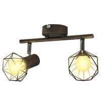 Spot light arame estilo industrial + 2 lâmpadas LED filament