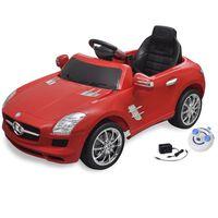Carro eléctrico Mercedes Benz SLS AMG vermelho 6V com controlo remoto