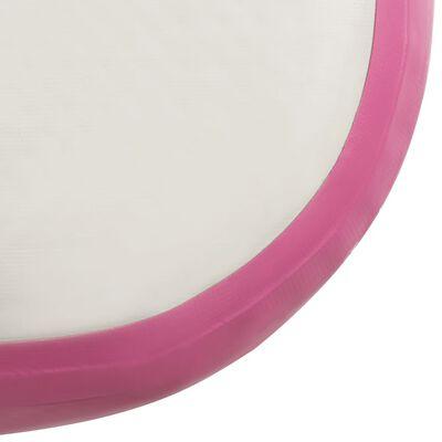 vidaXL Colchão de ginástica insuflável c/ bomba 500x100x15 cm PVC rosa