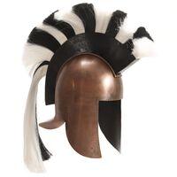 vidaXL Capacete de soldado grego réplica LARP cobre prateado