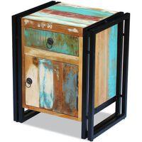 vidaXL Mesa de cabeceira em madeira reciclada maciça