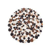 Tapete marrom - Pele genuína - 140 cm de diâmetro - SORGUN