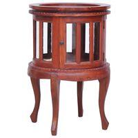 vidaXL Vitrina 50x50x76 cm madeira de mogno maciça castanho