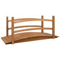 vidaXL Ponte de jardim 140x60x60 cm madeira de abeto maciça