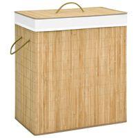 vidaXL Cesto para roupa suja 100 L bambu