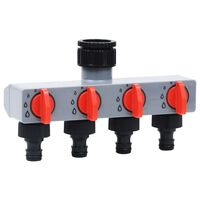 vidaXL Temporizador de água automático para jardim c/ válvula 4 vias