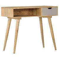vidaXL Mesa consola 89x44x76 cm madeira de mangueira maciça