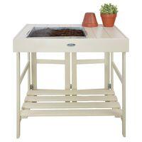 Esschert Design Mesa de jardinagem branco