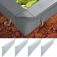 vidaXL Placas anti-caracóis 4 pcs aço galvanizado 170x7x25 cm 0,7 mm