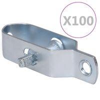 vidaXL Tensores de arame para cerca 100 pcs 100 mm aço prateado