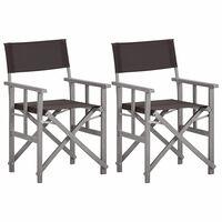 vidaXL Cadeira de realizador madeira de acácia maciça