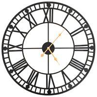 vidaXL Relógio de parede vintage c/ movimento quartzo metal 60 cm XXL