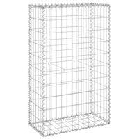 vidaXL Muro gabião com tampas aço galvanizado 60x30x100 cm